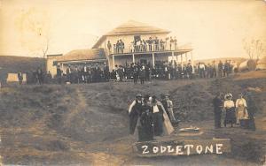 Zodletone Mountain OK in 1911 Spring Carnegie OK Postmark RPPC