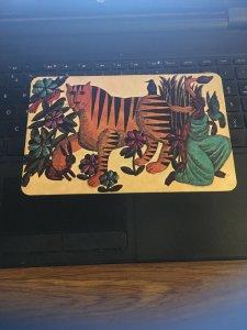 Vintage Unicorn Creations Postcard 5x7-1/2 1966  Tiger