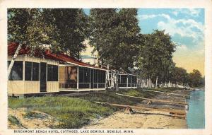 Lake Bemidji Minnesota~Birchmont Beach Hotel Cottages~Screen Porches~1925 PC