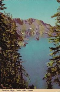 Phantom Ship Crater Lake Oregon 1975
