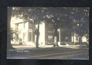 RPPC ALBION MICHIGAN CITY HOSPITAL VINTAGE REAL PHOTO POSTCARD COLDWATER MI.