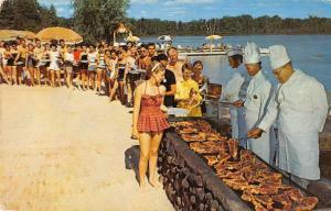 Rothbury Michigan weekly steak fry at Jack & Jill Ranch vintage pc ZA440498