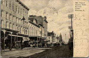 Allentown PA~Hamilton Street~East From Lumber~FW Woolworth Store~Windsor~c1905