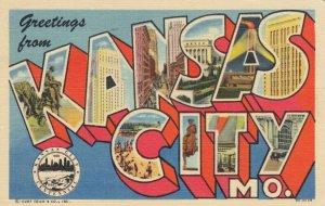 Large Letter KANSAS CITY , Missouri , PU-1939
