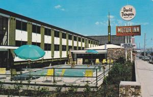 Swimming Pool,  David Thompson Motor Inn,  Downtown Kamloops,  B.C.,  Canada,...