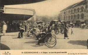 CPA Vietnam Indochine - Cochinchine - A Saigon, un jour de grand marché (85888)