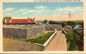 New York Fort Ticonderoga Sally Port and West Demilune Curteich