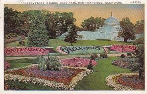 California San Francisco Conservatory Golden Gate Park 1929