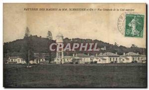 Postcard Old Chateau d & # 39eau Mr Moors Battery Schneider & Co. General Vie...