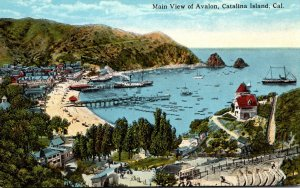 California Catalina Island Main View Of Avalon Curteich