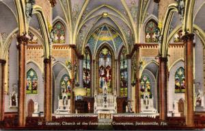Florida Jacksonville Church Of The Immaculate Conception Interior 1942 Curteich