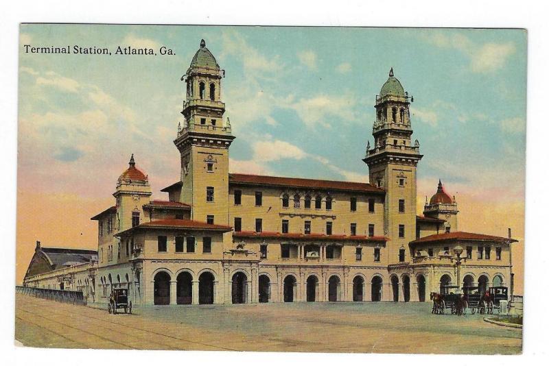 Early 1900s Picture Postcard - Atlanta's Terminal Station, GA (AP102