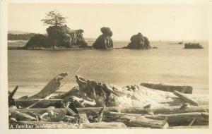 United States scenic real photo postcard a familiar landmark at Taft