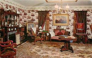 Topeka KS~Kansas State Historical Society Museum~Victorian Parlor~1960s~Postcard