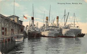 F15/ Mobile Alabama Postcard c1910 Shipping Scene Ships 5