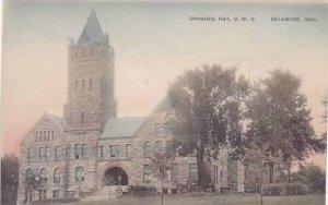 Ohio Delaware University Hall Ohio Wesleyan University Albertype