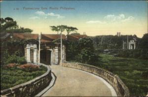 Manila Philippines Pontenciana Gate c1910 Postcard