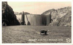 USA Boulder Dam From Boulder Lake Nevada RPPC 05.56