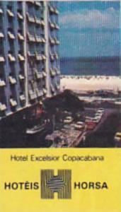 BRASIL COPACABANA HOTEL EXCELSIOR VINTAGE LUGGAGE LABEL