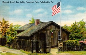 Pennsylvania Philadelphia Fairmount Park General Grant's Log Cabin 1949 ...