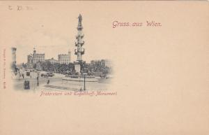 Gruss aus WIEN , Austria , 1890s ; Praterstern und Tegetthoff-Monument