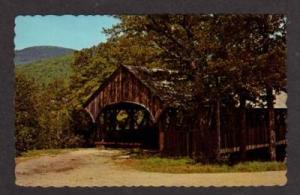 MAINE NEWRY ME Sunday River Covered Bridge Postcard PC