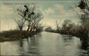 Fresno CA Irrigation Canal c1910 Postcard