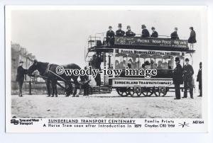 pp1874 - Horse Tram c1879, for Sunderland Transport Centenary - Pamlin postcard