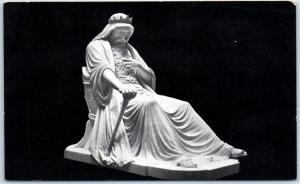 San Francisco CA Postcard Saul Statue Golden Gate Park De Young Museum c1910s