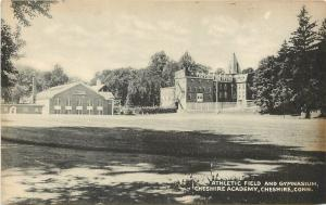 Cheshire Connecticut~Cheshire Academy Athletic Field and Gymnasium 1950 B&W PC