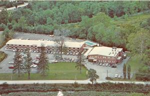 Hopewell Junction~Gayhead Motor Inn Aerial View~Swimming Pool~1950s Postcard