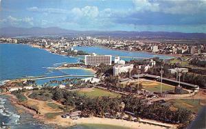Puerto Rico, San Juan, Caribe-Hilton luxury hotel, Gold Coast 1963