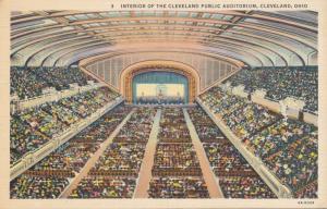 Interior of Cleveland Public Auditorium - Cleveland, Ohio - Linen