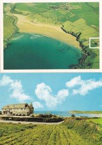 Crantock Bay Hotel Cornwall 2x Postcard s