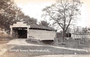 Newburg Pennslyvania Quigley's Covered Bridges Real Photo Postcard J73914