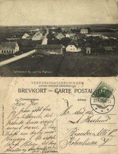 denmark, SØLLESTED, By set fra Møllen (1909) Postcard
