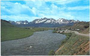 Lower Stanley & Sawtooth Mountains, Stanley, Idaho, ID, Chrome