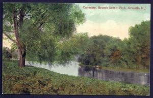Branch Brook Park Canoeing Newark New Jersey used c1909