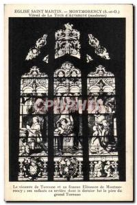 Old Postcard St. Martin Church Montmorency (S and O) Window of La Tour d'Auve...