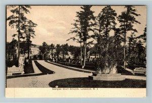 Lakewood NJ-New Jersey, Georgian Court Grounds, Vintage Postcard