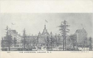 The Lakewood Hotel, Lakewood, New Jersey, Very Early Postcard, Unused