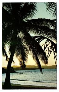 1969 Sunset at Buccaneer Beach, St. Croix, USVI Postcard
