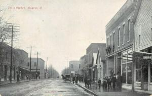 Convoy OH~Whoa! Boys Stand @ Ledge~Bicycle Shop~Little Kids on Wet Sidewalk~1907