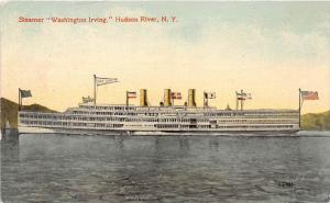 3951 Steamer Washington Irving hudson River, N.Y.