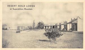 Mesa Arizona~Desert Gold Lodge @ Sand Tanks/Superstition Mountain~1920s Postcard