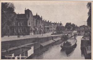 Boat, Spilsluizen, GRONINGEN, Netherlands, 1910-1920s