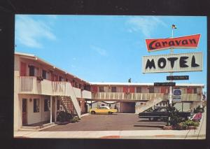 SEASIDE CALIFORNIA 1963 OLDSMOBILE CUTLASS OLD CARS MOTEL ADVERTISING POSTCARD