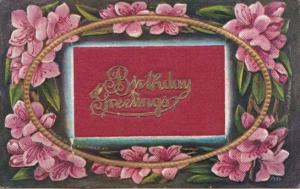 Birthday Greetings With Embroidered Message