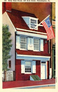 Pennsylvania Philadelphia Betsy Ross House Curteich