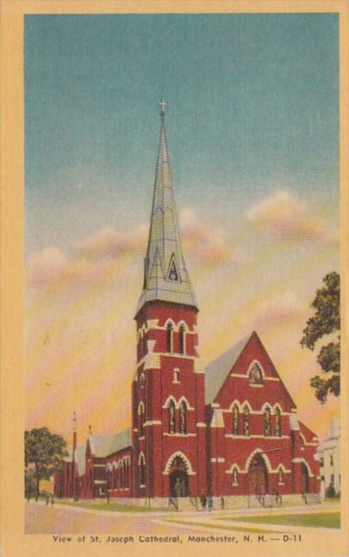 New Hampshire Manchester St Joseph Cathedral 1968